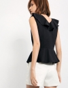 Sleeveless Asymmetric Ruffled Top
