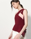 Asymmetric Top With Contrast Interlace Strap